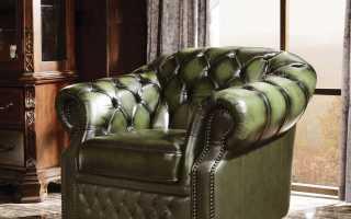 Кресло Chester: кожаные коричневые и бежевые модели, размеры и схема дивана