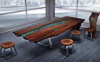 Стол-река (27 фото): из эпоксидной смолы, деревянные модели из стекла в стиле лофт