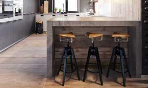Барные стулья в стиле лофт: красивые примеры в интерьере