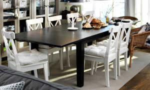 Барные стулья от Ikea (50 фото): складные деревянные полубарные варианты с чехлом
