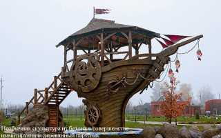 Садовые скульптуры (66 фото): парковая конструкция своими руками из бетона и дерева