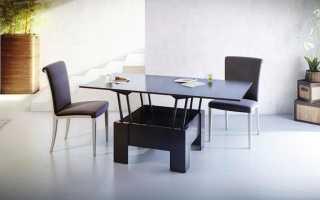 Столы-трансформеры для гостиных (32 фото): большие столики-консоли с тумбой