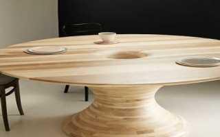 Круглые деревянные столы (40 фото): раздвижной стол из дерева на одной ножке своими руками