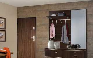 Навесные шкафы в прихожую (22 фото): подвесные шкафчики с зеркалом в коридор