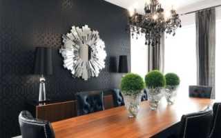Черные обои (91 фото): красивые покрытия в темных тонах для стен в комнату