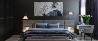 Спальня в темных тонах (45 фото): дизайн интерьера в темном цвете