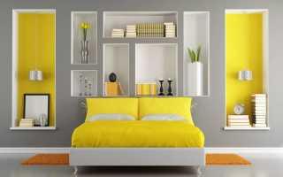 Ниша в спальне (46 фото): как оформить нишу из гипсокартона над кроватью