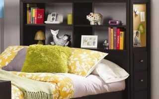 Кровати с полками в изголовье (19 фото): модели с удобными полочками