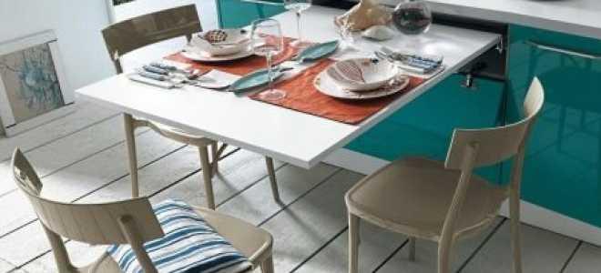 Выдвижной стол на кухне (47 фото): кухонный стол с выдвигающимся механизмом