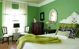 Зеленая спальня (69 фото): дизайн интерьера в темно-зеленых тонах
