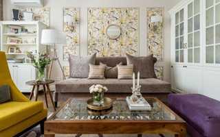 Дизайн комбинированных обоев для зала (106 фото): как правильно подобрать двух видов и цветов
