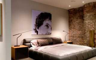 Кирпичная стена в спальне (36 фото): дизайн интерьера с белой кирпичной стеной