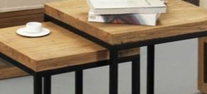 Журнальный столик в стиле «лофт» (25 фото): идеи модных столов в интерьере