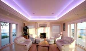 Светодиодная лента под натяжным потолком (33 фото): как сделать и установить подсветку на натяжном потолке