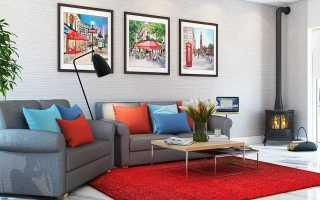 Красный ковер (32 фото): классические синтетические модели красно-синего цвета в интерьере