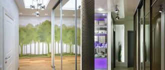 Натяжные потолки в коридоре (39 фото): дизайн с фотопечатью двухуровневого парящего потолочного покрытия