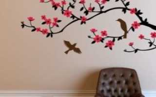 Обои с сакурой (38 фото): красивые рисунки на стене в виде цветущей ветки сакуры в интерьере