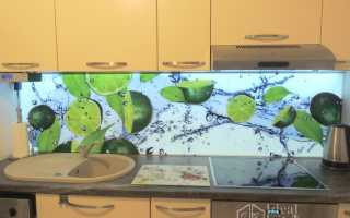 Подсветка для фартука на кухне: кухонный фартук из стекла со светодиодной лентой