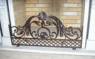 Решетка для камина (60 фото): кованые каминные решетки, изготовление декоративных решеток своими руками