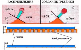 Гребенка для плитки: выбор инструментов для укладки на стену и какой нужен зубчатый шпатель