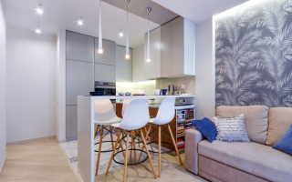 Цвет стен на кухне (67 фото): в гостиной, совмещенной с маленькой кухней