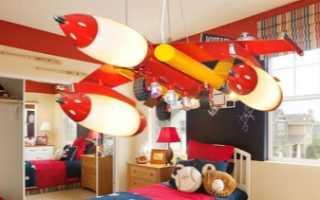 Люстры в виде самолета: потолочный светильник в детскую комнату для мальчика