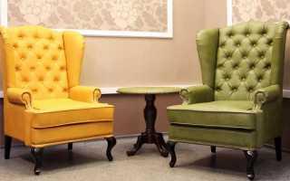 Кресло в английском стиле (18 фото): кожаные модели с высокой спинкой, подголовником и «ушами»