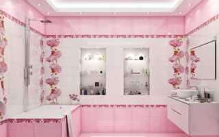 Розовая керамическая плитка: особенности применения, красивые сочетания