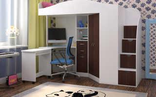 Кровать-чердак для подростка с рабочей зоной (48 фото): модели для школьника из массива дерева