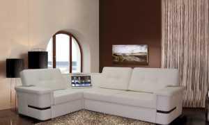Угловой диван с баром: со встроенным баром в углу и с подсветкой