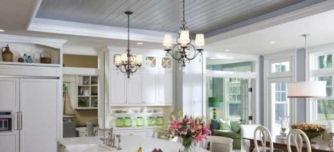 Потолок на кухне из пластиковых панелей (45 фото): отделка своими руками