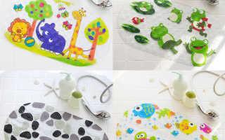 Мини-коврики для ванной: силиконовые модели против скольжения на присосках для купания детей