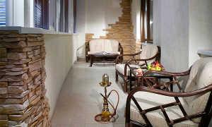 Отделка балкона камнем (41 фото): декоративным и искусственным, отзывы