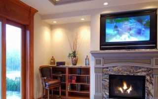 Телевизор над камином в интерьере (40 фото): вид комнаты – зала или спальни с электрокамином