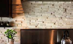 Камень для фартука на кухне (54 фото): декоративный искусственный камень на стене, каменный фартук