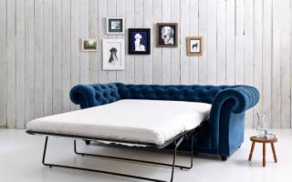 Французская раскладушка (25 фото): кожаный диван с механизмом трансформации, отзывы