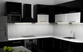 Обои для черно-белой кухни (43 фото): дизайн в интерьере с гарнитуром