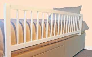 Ограничители для кровати: защитный барьер против падений, страховочный борт в детскую кроватку своими руками