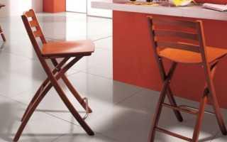Складные барные стулья: особенности раскладных барных деревянных конструкций