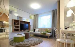 Дизайн однокомнатной квартиры 35 кв. м (63 фото): идеи и проект ремонта 1-комнатной квартиры