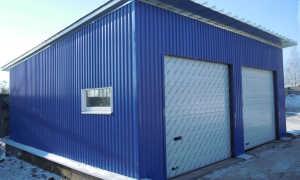 Сборный гараж: сборка металлических разборных конструкций, проект металлоконструкций