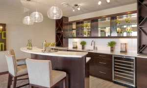 Дизайн кухни с барной стойкой (65 фото): интерьер студии с гостиной