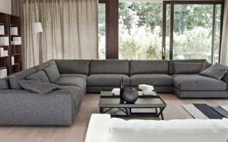 Большие диваны для гостиной (43 фото): огромные П-образные и прямые диваны со спальным местом, мебель для маленькой комнаты