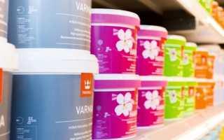 Краска для стен Tikkurila: палитра цветов, моющиеся глянцевые составы, какую выбрать для потолков в квартире