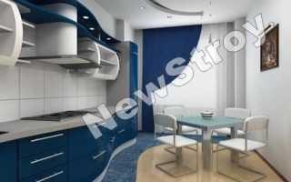 Дизайн потолка из гипсокартона на кухне (56 фото): подвесные с коробом