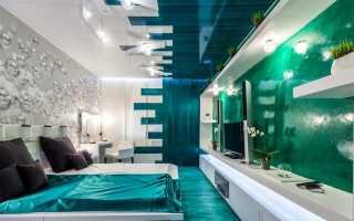 Бирюзовая спальня (64 фото): дизайн интерьера в шоколадных