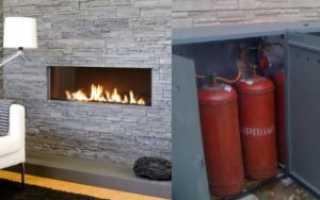 Газовый камин для дачи: модели, работающие от газового баллона и камины без дымохода