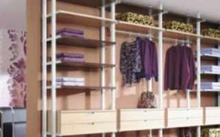 Стеллажи для гардеробной: сборные металлические стеллажные системы для комнат, гардероба и одежды