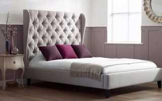 Кровати с высоким изголовьем (39 фото): кровать с мягкой спинкой с закруглением, стандартная высота