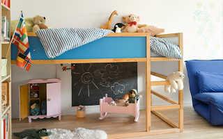 Кровать-чердак с игровой зоной: детская кровать для девочки с игровой зоной внизу